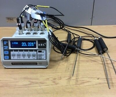 F200, 8-Channels Precision Thermometer  TINSLEY-ASL Inc 5 Probes