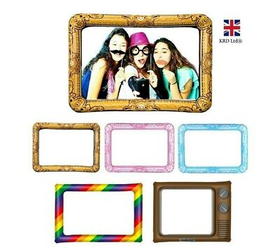 GIANT INFLATABLE PHOTO FRAME Selfie Booth Props Blow Up Hen Party Wedding NEW UK