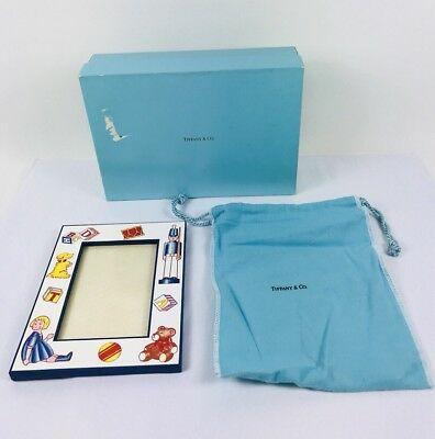"""Tiffany & Co. 5 1/2"""" x 7 """"  picture frame with box and dust bag"""