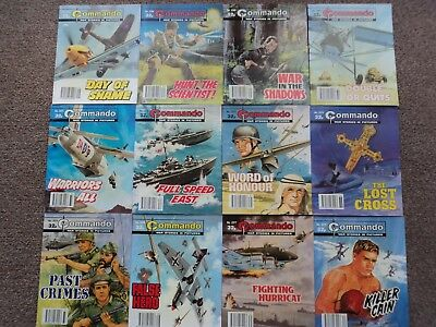 12 x COMMANDO WAR STORIES IN PICTURES,  ALL SEQUENTIAL No's 2367-2378.