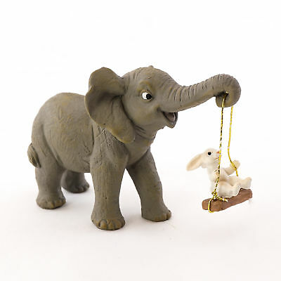 Miniature Dollhouse FAIRY GARDEN - Elephant and Bunny Playing - Accessories