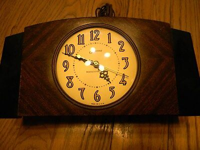 Clock Mantle Sessons Electic Westminister Chimes On 1/4 Hour - Art Deco Style