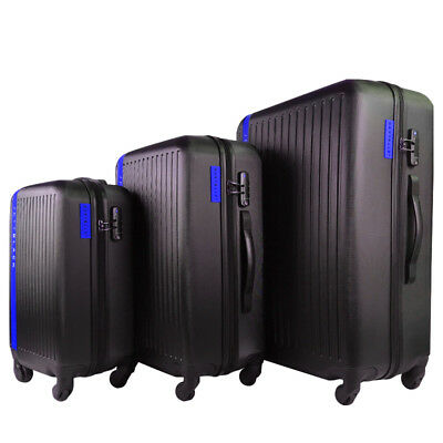 3pc Luggage Hard Case Suitcase Set TSA Lock Travel Carry On Bag Lightweight