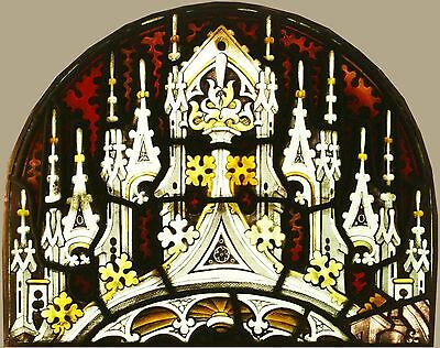 Gothic Stained Glass Windows PAIR