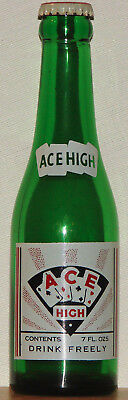Ace High 7oz ACL Soda Bottle Cards w/ Original Cap Crown Albert Lea Mn. 1945