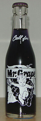 Mr. Grape 7oz ACL Soda Bottle Baby w/Top Hat Milwaukee, Wi. 1947 Rare!