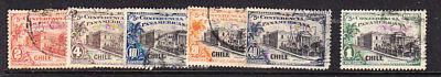Chile 1923 Pan Pacific Conference Issues Used