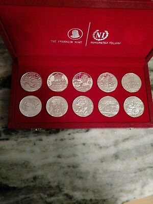 1969 Tunisia Tunisienne Franklin Mint 10-Coin Proof Silver Set