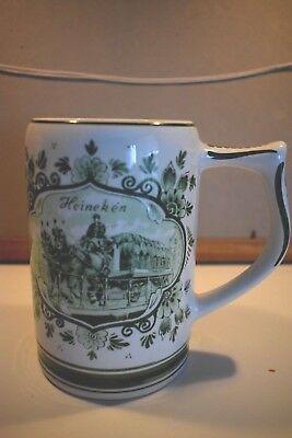 Heineken Beer Delft Green Beer Mug /stein Made In Holland 0.5L