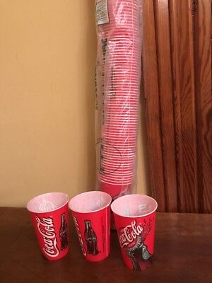 NOS 95 Vintage Coca Cola Wax Paper Sweetheart Cups 7 Oz.