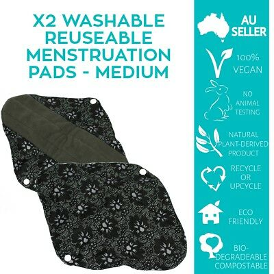 x2 M Washable Reuseable Bamboo Menstrual Pads High Quality ONLY$4.83ea AU Seller