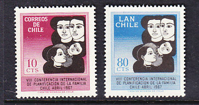 Chile 1967 Family Planning set Mint