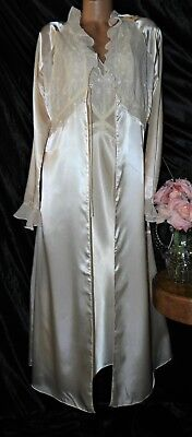 Nightgown,Peignoir Set.True Vintage, XL Anne Klein.Pale peachy, pink. Long,WOW!