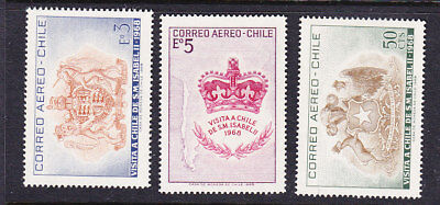 Chile 1968 State Visit Queen Elizabeth 2nd Mint