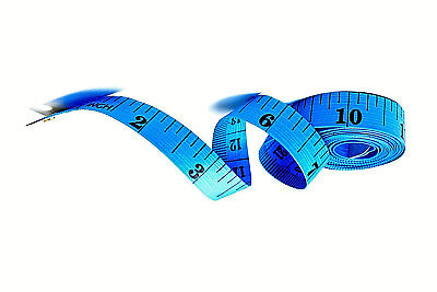 "Blue Body Measuring Ruler Sewing Tailor Tape Measure Soft Flat 60"" /150cm UK"