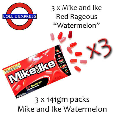 """Mike and Ike """"Red Rageous"""" featuring Watermelon 3 Pack Deal!!!!"""
