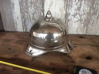 Antique Prussian Style Military Helmet , Metal , Damaged , With Point