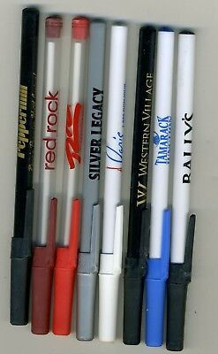 (8) pens from Nevada casinos - Las Vegas, Reno, Sparks