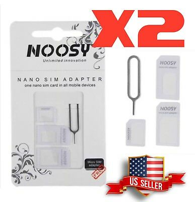 Nossy Nano to Micro/Standard SIM Card Adapter Converter Set for Samsung iPhone