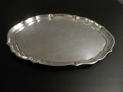 Antique Sterling Silver Fisher Chippendale Oval Tray