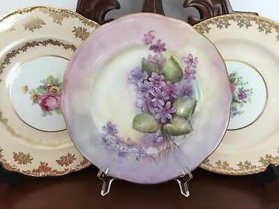 Vintage Duchess Bone China England Hand Painted 'dorothy Cole' Plate C1960's