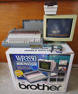 Brother WP-3550 Word Processor w/ Monitor original box Read Description!