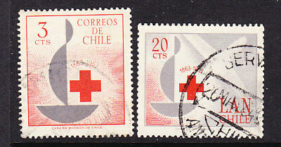 Chile 1963 Red Cross   set Used