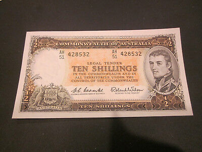 10 shillings Coombs/wilson Australian UNC- AH51, FANTASTIC INVESTMENT FOR YEARS
