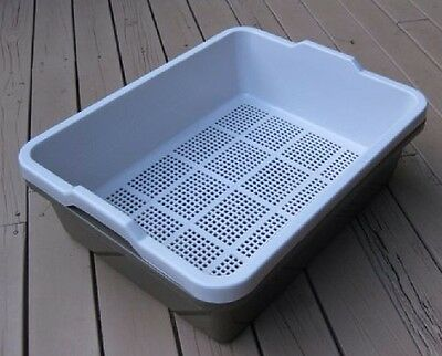 Oz Pet Cat Kitten Litter Sieve Tray - Mocha Chocolate & Surfmist