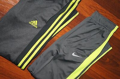 Nike Adidas Set Boy's Sweatpants S Small 8 EUC Gray Volt
