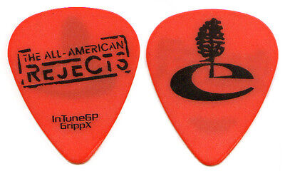 ALL AMERICAN REJECTS Guitar Pick 2009 Tour - Mike Kennerty orange tree AAR