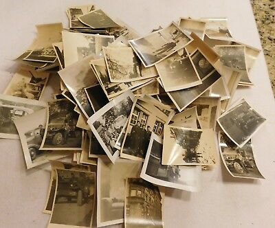 a lot of 140 black and white 1945 army photos