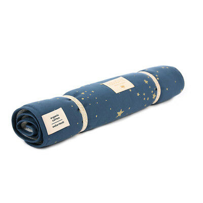 NEW Nobodinoz Nomad Changing Pad Gold Stella/Night Blue