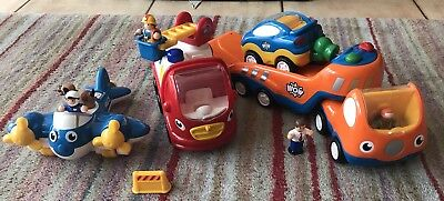 Wow Toys Truck, Plane, Car & Fire Engine with Little People