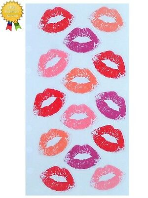 VALENTINES LIPS Stickers Lipstick Kiss Red Pink Love Sticko Stickopotamus
