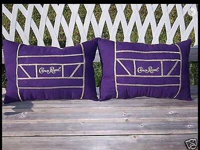 New  2 Pillows    Made  From   Crown  Royal Bags