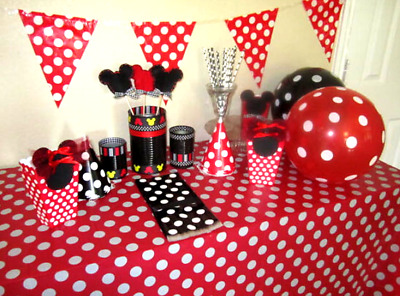 Mickey Mouse Pastic Table Cover Party Decoration Red Or Black  sc 1 st  PicClick & MICKEY MOUSE PASTIC Table Cover Party Decoration Red Or Black ...