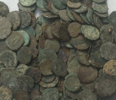 LOT OF 250+ UNCLEANED ANCIENT ROMAN MIXED AE, ANTONINI etc. MEDIUM QUALITY-GRADE