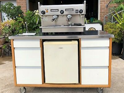 Coffee Cart with Fridge - Great for Events
