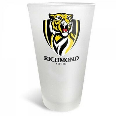 Richmond Tigers Official AFL Frosted Conical Glass 500ml