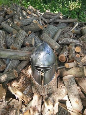 SCA Barbute 18g Hand made Cross-motif helm helmet medieval armour A1.
