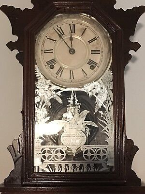 THE ANSONIA CLOCK CO NEW YORK ~ Antique Clock CLOCK CLOCK comes with a GHOST !!