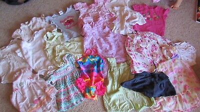 Bulk baby girls size 0 summer clothes bathers included