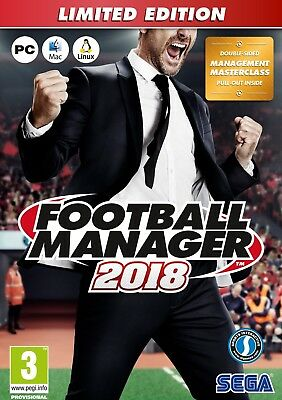Football Manager 2018 Limited Edition [PC/Mac/Linux] New & Sealed