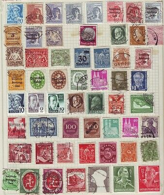 Old Europe * German  Area  1 Page  Mainly Used   == 55 ++ Stamps  Unsorted