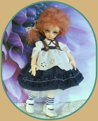 1/6 Bjd doll Austrian Tyrol outfit & mohair wig*skirt*blouse*hosiery * NO DOLL *