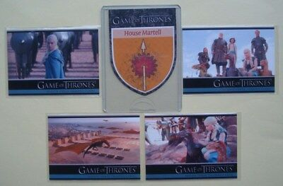 LOT/Set GAME Of THRONES GoT Season 3 PROMO Cards P1-P4 + Case TOPPER H10 Martell