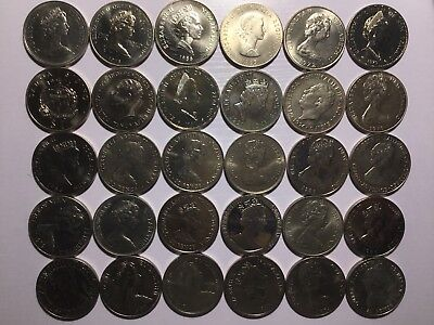 30 Uncirculated World Crown Size Coins (Cu-Ni) From Commonwealth Countries