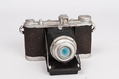 Resin ornament of vintage folding bellows camera - miniature reproduction