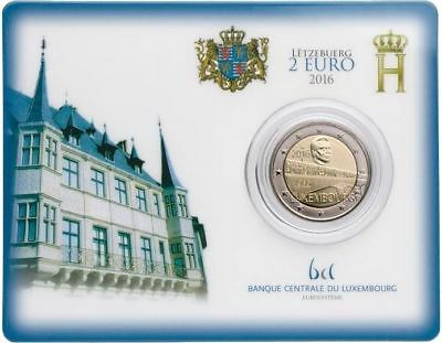 2 euros Luxembourg Coincard  Pont Grande duchesse Charlotte FDC